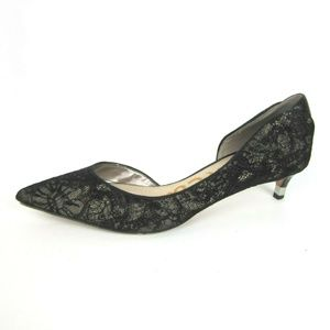 Sam Edelman Lace D'Orsay Kitten Heel Pumps 9.5
